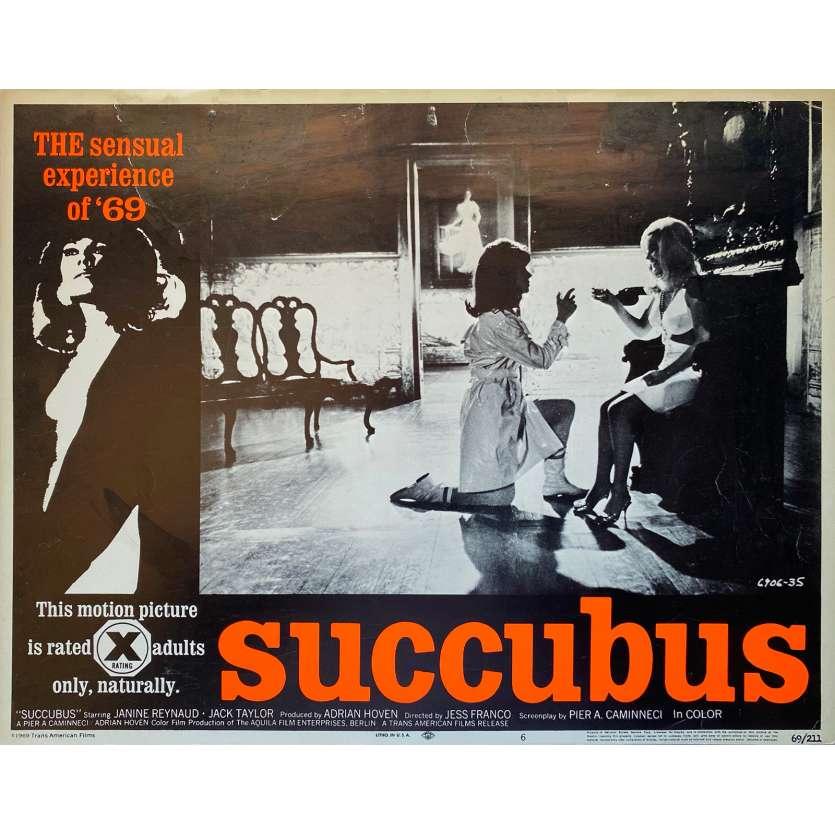 SUCCUBUS Original Lobby Card N3 - 11x14 in. - 1968 - Jesús Franco, Janine Reynaud