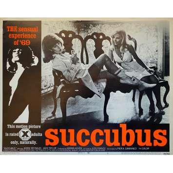 SUCCUBUS Original Lobby Card N4 - 11x14 in. - 1968 - Jesús Franco, Janine Reynaud