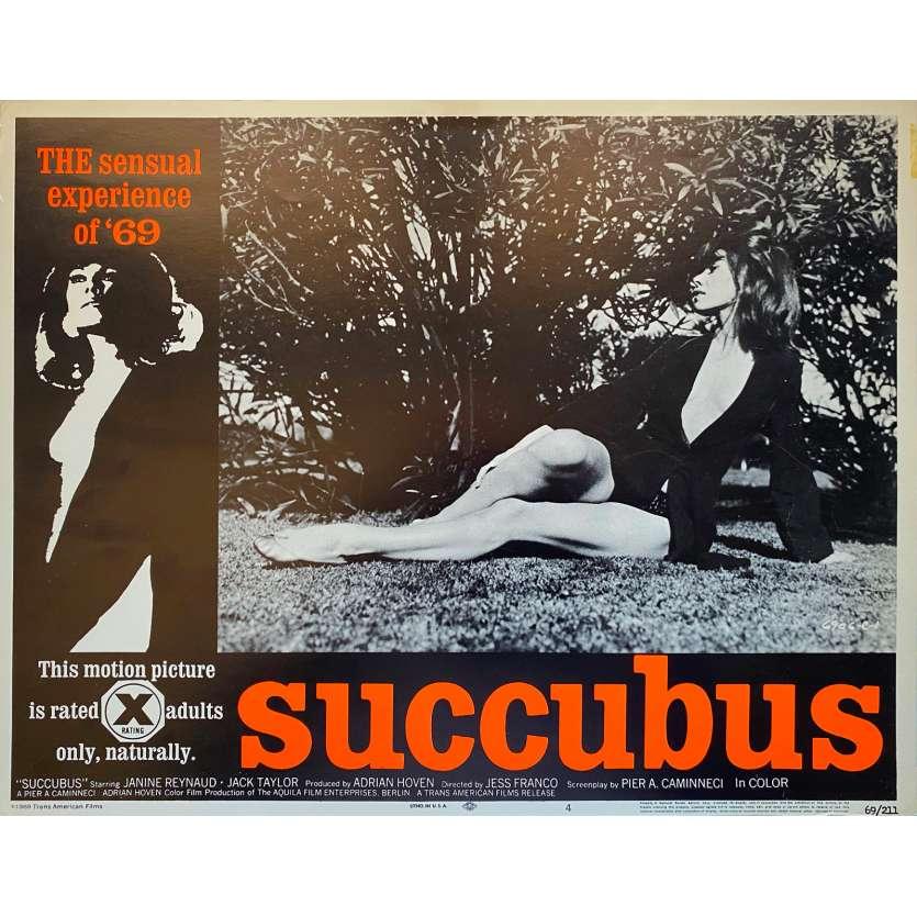 SUCCUBUS Original Lobby Card N6 - 11x14 in. - 1968 - Jesús Franco, Janine Reynaud