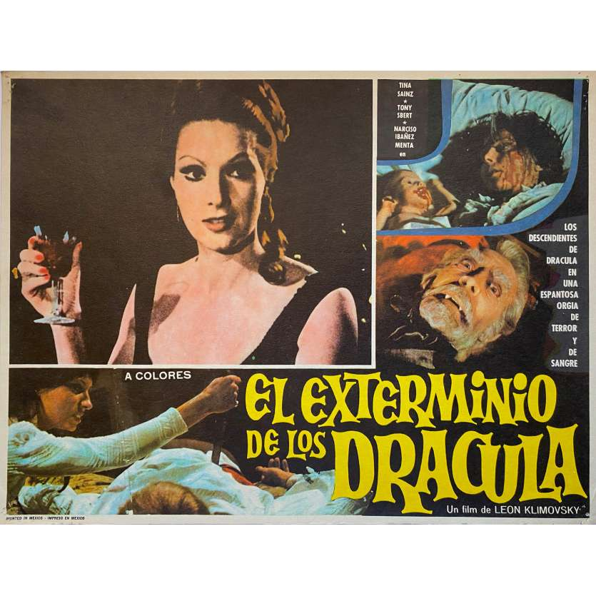 LE GRAND AMOUR DU COMTE DRACULA Photo de film N3 - 32x42 cm. - 1973 - Paul Naschy, Javier Aguirre