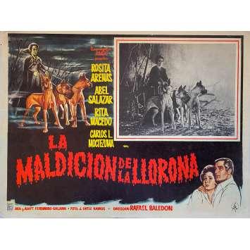 THE CURSE OF THE CRYING WOMAN Original Lobby Card - 11x14 in. - 1963 - Rafael Baledón, Rosita Arenas
