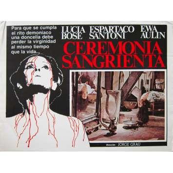 LEGEND OF BLOOD CASTLE Original Lobby Card - 11x14 in. - 1973 - Jorge Grau, Lucia Bose