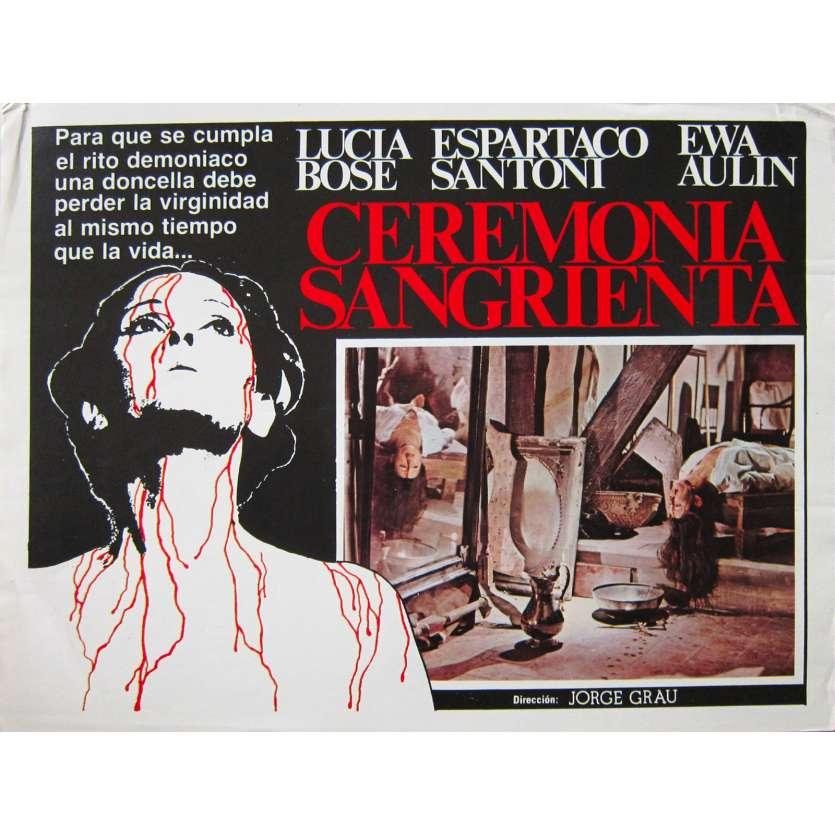 CEREMONIE SANGLANTE Photo de film - 32x42 cm. - 1973 - Lucia Bose, Jorge Grau
