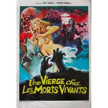 UNE VIERGE CHEZ LES MORTS-VIVANTS Affiche de film - 40x60 cm. - 1973 - Christina von Blanc, Jesús Franco