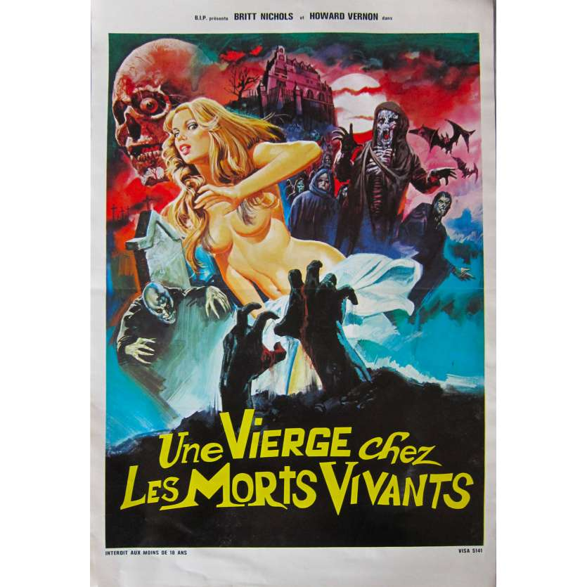 A VIRGIN AMONG THE LIVING DEAD Original Movie Poster - 15x21 in. - 1973 - Jesús Franco, Christina von Blanc