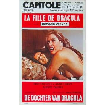 LA FILLE DE DRACULA Affiche de film - 35x55 cm. - 1972 - Carmen Yazalde, Jesús Franco