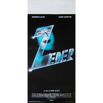 ZEDER LES VOIX DE L'AU DELA Affiche de film - 33x71 cm. - 1983 - Gabriele Lavia, Pupi Avati