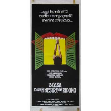 LA MAISON AUX FENETRES QUI RIENT Affiche de film - 33x71 cm. - 1976 - Lino Capolicchio, Pupi Avati