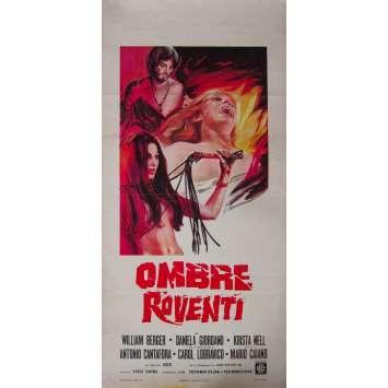 OMBRE ROVENTI Affiche de film - 33x71 cm. - 1970 - William Berger, Mario Caiano