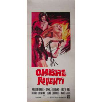 SHADOW OF ILLUSION Original Movie Poster - 13x28 in. - 1970 - Mario Caiano, William Berger