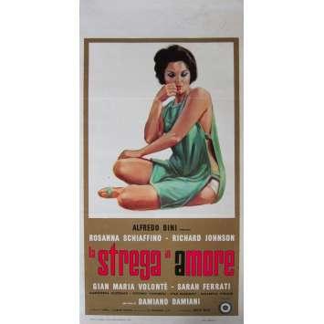 LA STREGA IN AMORE Affiche de film - 33x71 cm. - 1966 - Richard Johnson, Damiano Damiani