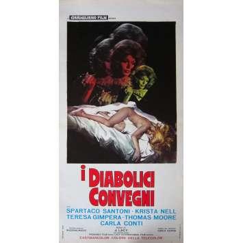 LAS AMANTES DEL DIABLO Affiche de film - 33x71 cm. - 1971 - Espartaco Santoni, Krista Nell, José María Elorrieta