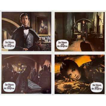 THE WHIP AND THE BODY Original Lobby Cards x4 - 9x11,5 in. - 1963 - Mario Bava, Daliah Lavi, Christopher Lee