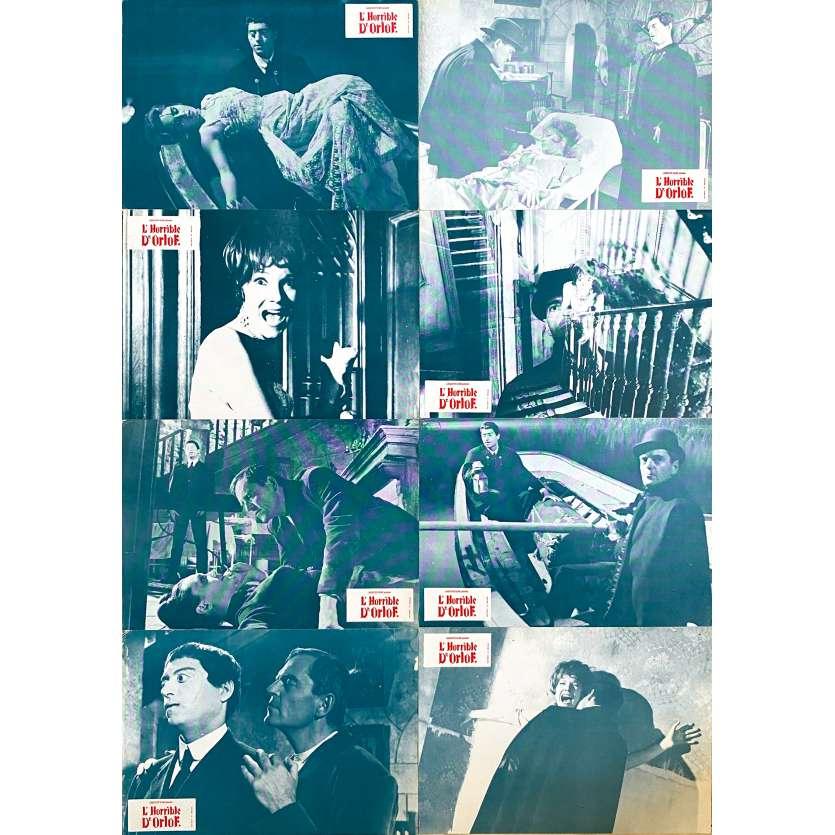 THE AWFUL DR. ORLOF Original Lobby Cards x8 - 9x12 in. - 1962 - Jesús Franco, Conrado San Martín