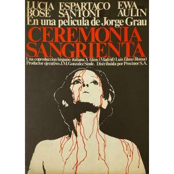 LEGEND OF BLOOD CASTLE Original Pressbook 4p - 9x12,5 in. - 1973 - Jorge Grau, Lucia Bose