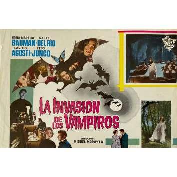 THE INVASION OF THE VAMPIRES Original Herald 1p - 9x12,5 in. - 1963 - Miguel Morayta, Erna Martha Bauman