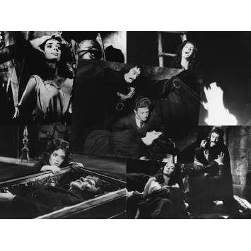 LE MASQUE DU DEMON Photos de presse x5 - 18x24 cm. - R1980 - Barbara Steele, Mario Bava