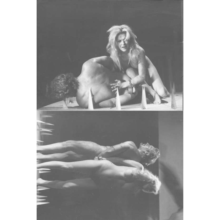 THE RITES OF FRANKENSTEIN Original Movie Stills x2 - 7x9 in. - 1973 - Jesus Franco, Alberto Dalbes