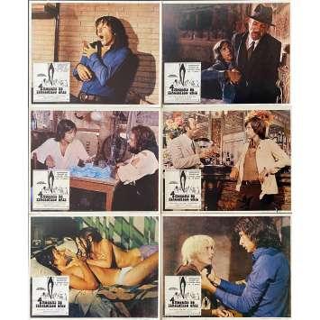 FOUR FLIES ON GREY VELVET Original Lobby Cards x6 - 11x14 in. - 1971 - Dario Argento, Jean-Pierre Marielle