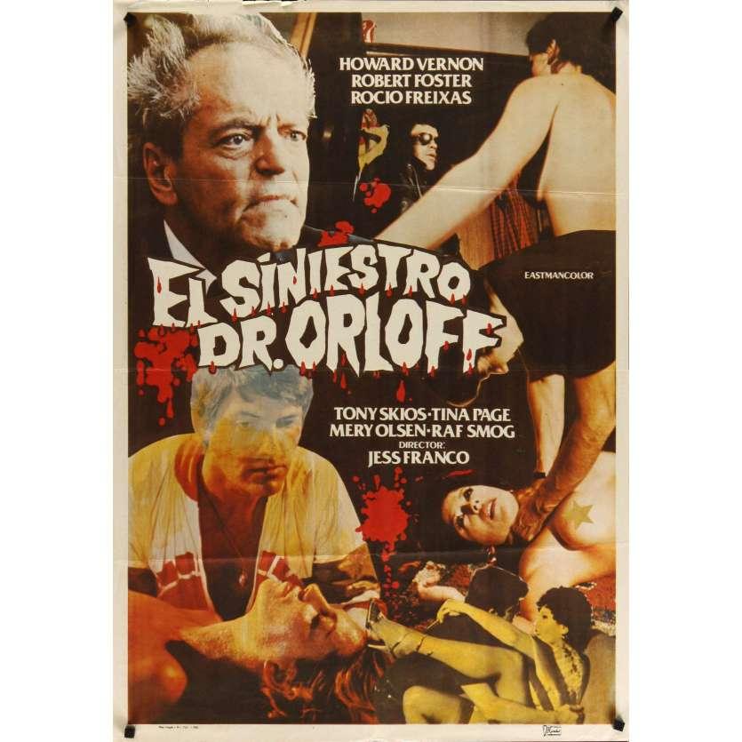L'HORRIBLE DR. ORLOFF Affiche Espagnole '83 Howard Vernon, Jesus Franco jess