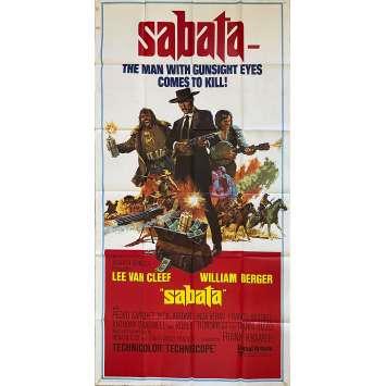 SABATA Affiche de film- 104x206 cm. - 1969 - Lee Van Cleef, Gianfranco Parolini