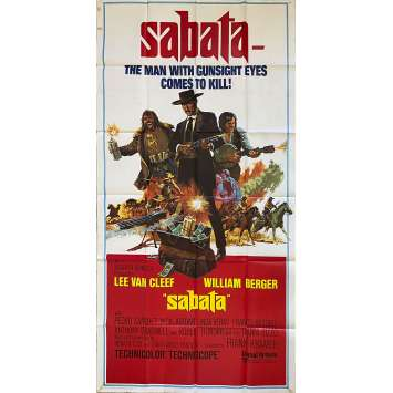 SABATA Original Movie Poster- 41x81 in. - 1969 - Gianfranco Parolini, Lee Van Cleef