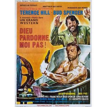 DIEU PARDONNE… MOI PAS ! Affiche de film- 60x80 cm. - 1967 - Terence Hill, Bud Spencer , Giuseppe Colizzi