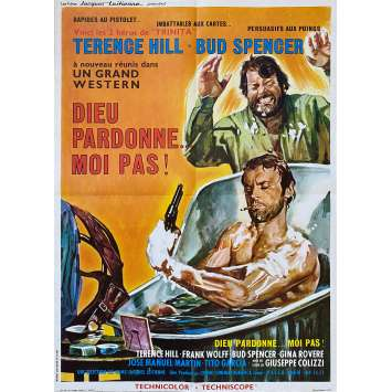 GOD FORGIVES… I DON'T Original Movie Poster- 23x32 in. - 1967 - Giuseppe Colizzi, Terence Hill, Bud Spencer