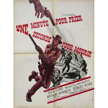 A MINUTE TO PRAY, A SECOND TO DIE Original Movie Poster- 23x32 in. - 1967 - Franco Giraldi, Alex Cord