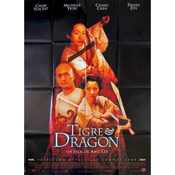 TIGRE ET DRAGON Affiche de film- 120x160 cm. - 2000 - Chow Yun Fat, Ang Lee
