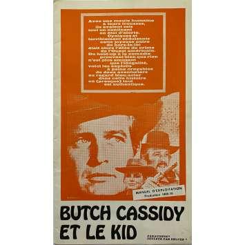 BUTCH CASSIDY ET LE KID Dossier de presse- 16x25 cm. - 1969 - Paul Newman, Robert Redford, George Roy Hill