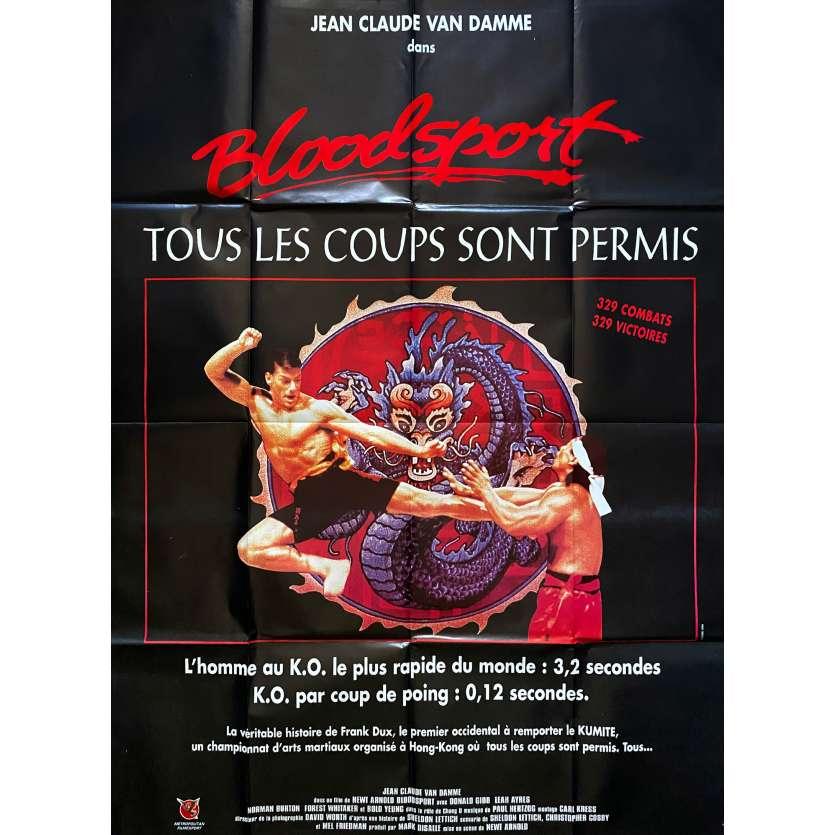 BLOODSPORT Original Movie Poster - 47x63 in. - 1988 - Jean-Claude Van Damme, JCVD, Bolo Yeung