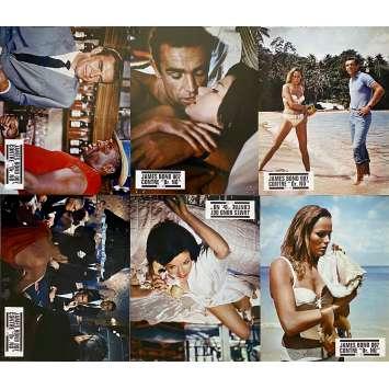 DR. NO Original Lobby Cards x6 - CO - 9x12 in. - R1970 - James Bond 007, Sean Connery