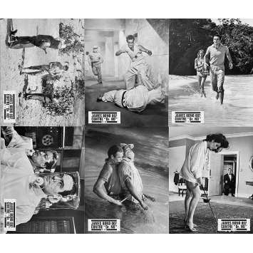 JAMES BOND CONTRE DR. NO Photos de film x6 - NB - 21x30 cm. - R1970 - Sean Connery, James Bond 007