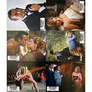FROM RUSSIA WITH LOVE Original Lobby Cards x6 - 9x12 in. - R1970 - James Bond 007, Sean Connery