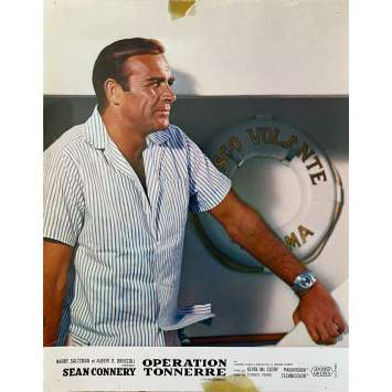 THUNDERBALL Original Lobby Card- 9x12 in. - 1965 - James Bond, Sean Connery