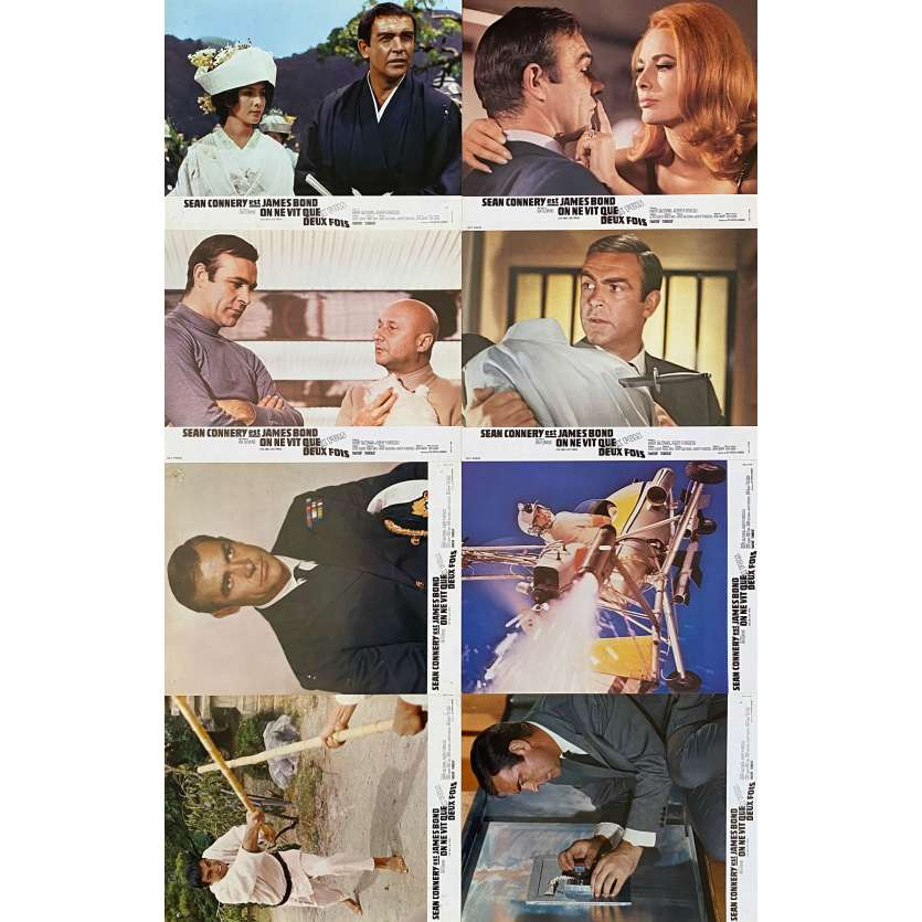 YOU ONLY LIVE TWICE Original Lobby Cards x8 - 9x12 in. - 1967 - James Bond 007, Sean Connery