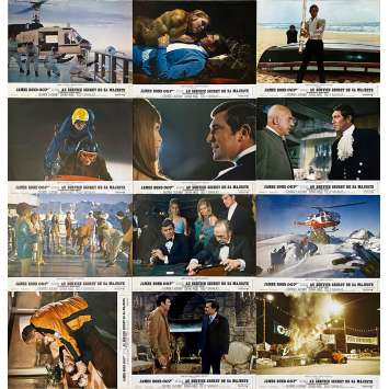 ON HER MAJESTY'S SECRET SERVICE Original Lobby Cards x12 - 9x12 in. - 1969 - James Bond 007, Diana Rigg