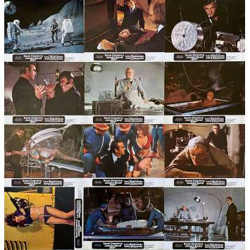 DIAMONDS ARE FOREVER Original Lobby Cards x12 - 9x12 in. - 1971 - James Bond, Sean Connery