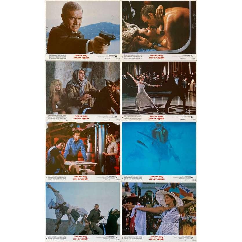 NEVER SAY NEVER AGAIN Original Lobby Cards x8 - 8x10 in. - 1983 - James Bond, Sean Connery