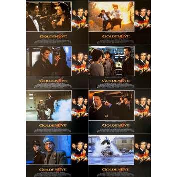 GOLDENEYE Original Lobby Cards x8 - 9x12,5 in. - 1995 - James Bond, Pierce Brosman