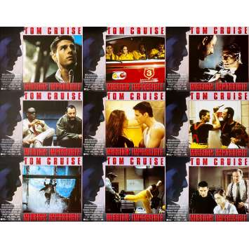 MISSION IMPOSSIBLE Original Lobby Cards x9 - 11x14 in. - 1996 - Brain de Palma, Tom Cruise