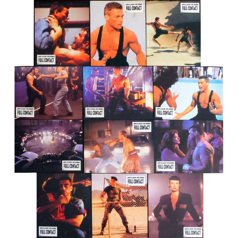 THE LIONHEART French Lobby Cards 9,5x12 - 1990 - Shedon Lettich, Jean-Claude Van Damme