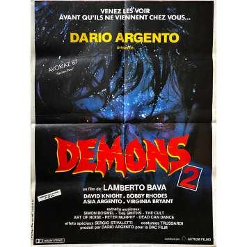 DEMONS 2 Original Movie Poster- 23x32 in. - 1986 - Lamberto Bava, Asia Argento
