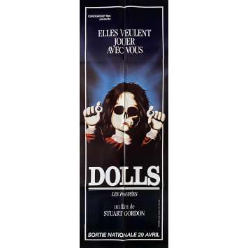 DOLLS Original Movie Poster- 23x63 in. - 1987 - Stuart Gordon, Ian Patrick Williams