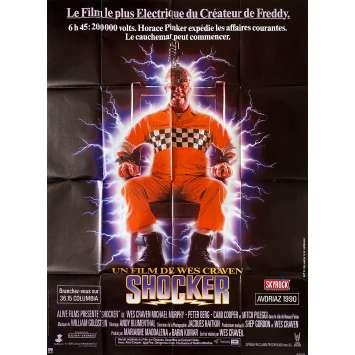 SHOCKER Original Movie Poster- 47x63 in. - 1989 - Wes Craven, Mitch Pileggi
