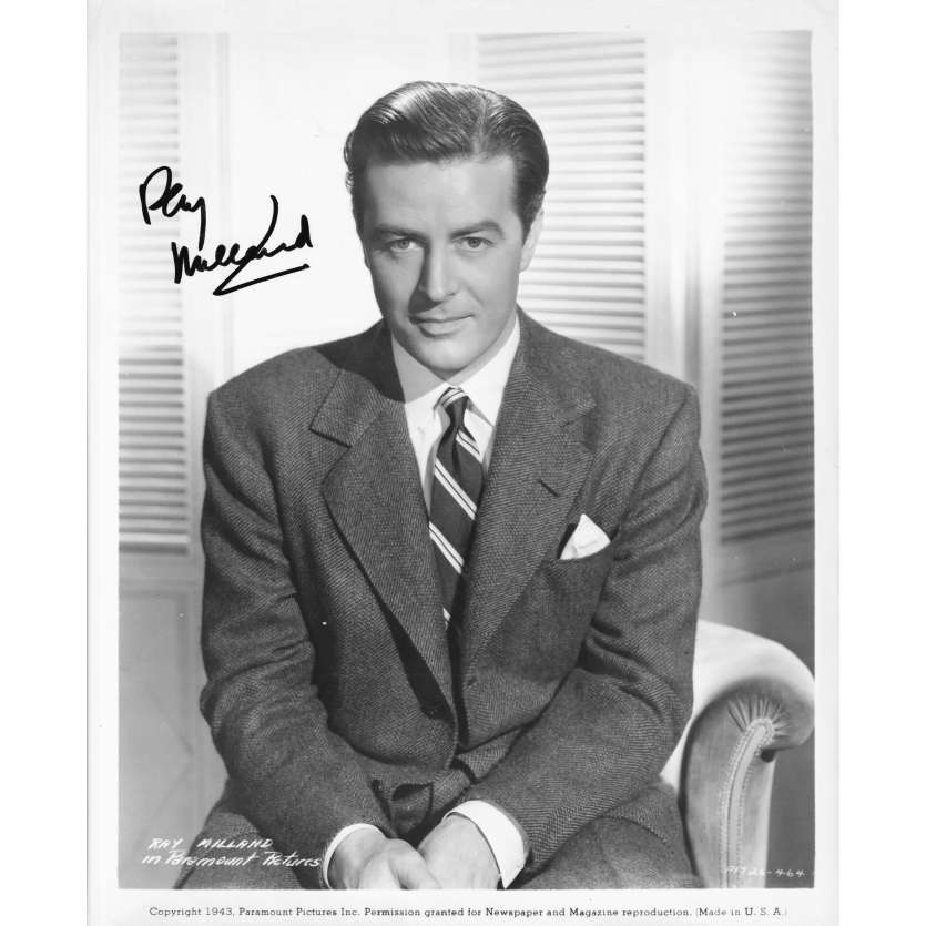 RAY MILLAND Photo signée- 20x25 cm. - 1943 - Ray Milland, Paramount
