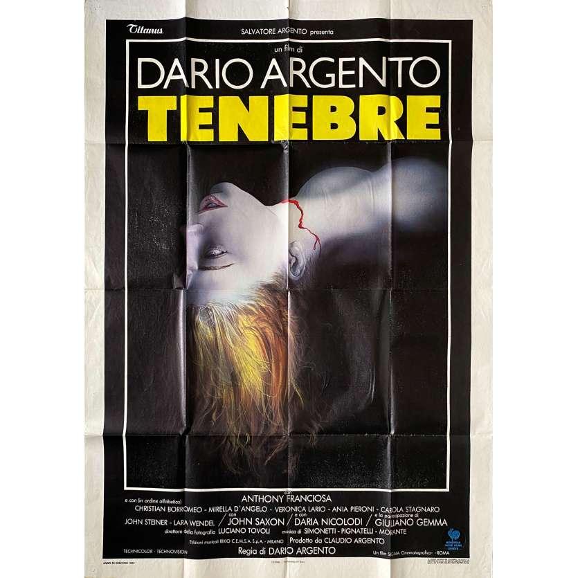 TENEBRE Original Movie Poster- 39x55 in. - 1982 - Dario Argento, John Saxon