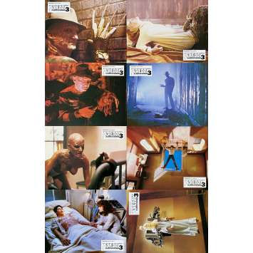 A NIGHTMARE ON ELM STREET 3 DREAM WARRIORS Original Lobby Cards x8 - 9x12 in. - 1987 - Chuck Russel, Robert Englund
