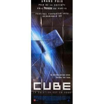 CUBE Original Movie Poster- 59x138 in. - 1997 - Vincenzo Natali, Nicole de Boer